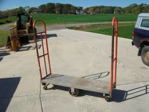 Flatbed Cart with uneven casters