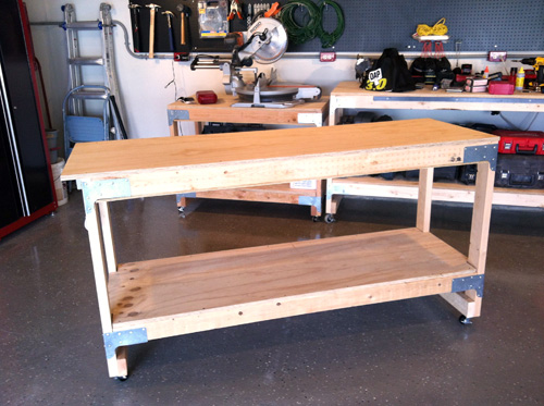 Diy Workbench On Casters Woodworking Plans Easy For Beginner